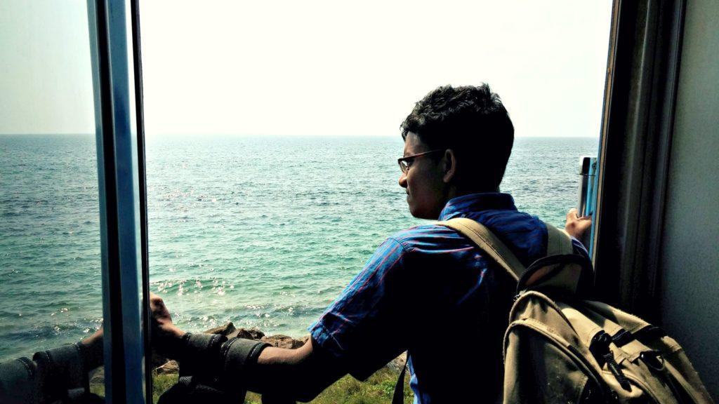 Zugfahrt entlang der Küste Colombo Bentota