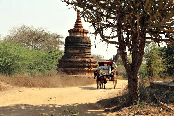 Pferdekutsche Bagan