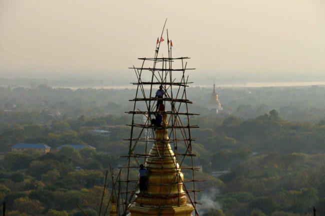 Sagaing Sonnenuntergang