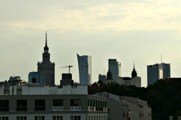 Aussicht Universitätsbibliothek Warschau Dachgarten