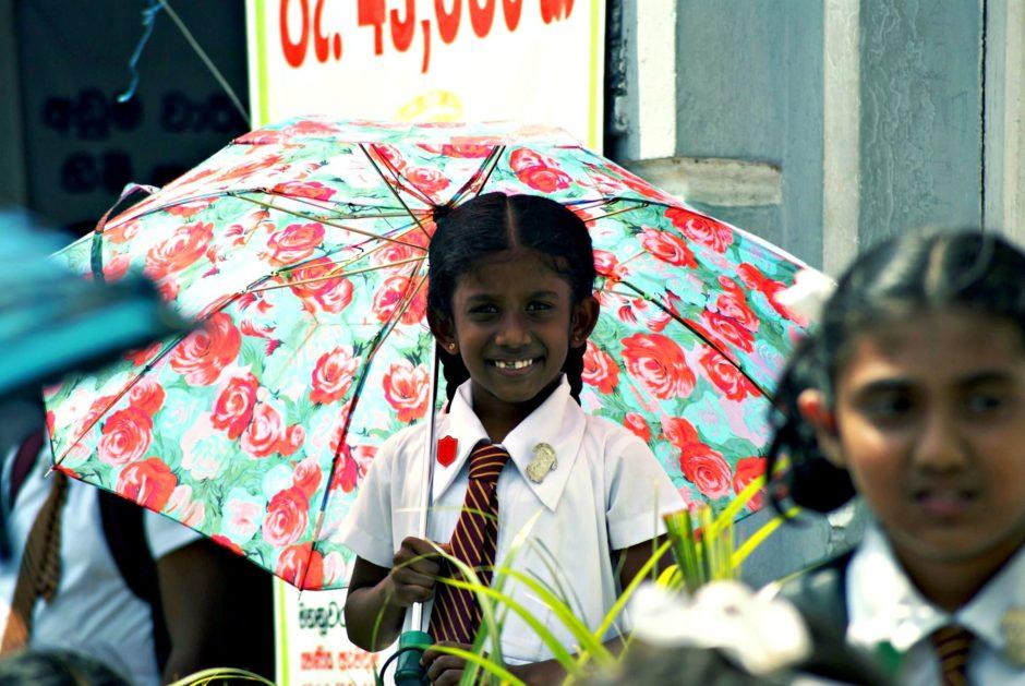 Mädchen in Kandy