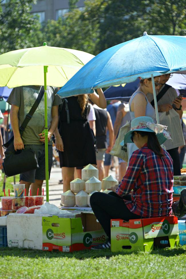 Kokusnussverkauf auf der Thaiwiese