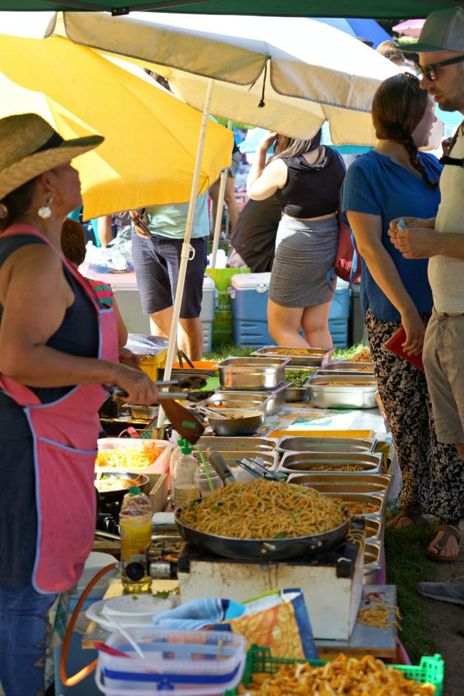 Diverse thailändische Speisen im Preussenpark