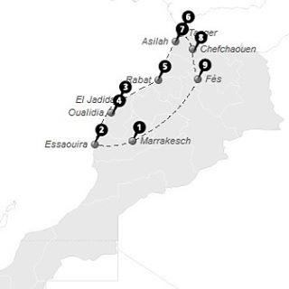 Reiseroute 2,5 Woche Marokko