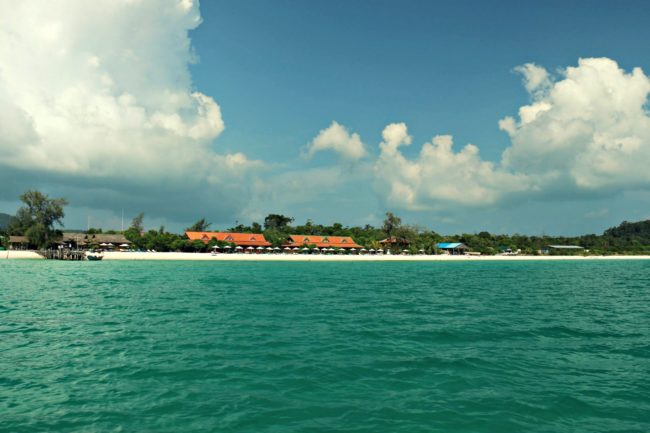 Blick auf das Sok San Beach Resort