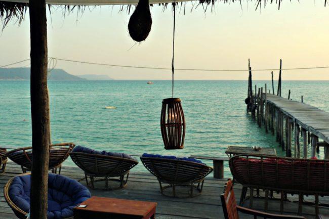 Blick auf das Meer vor Sok San Village