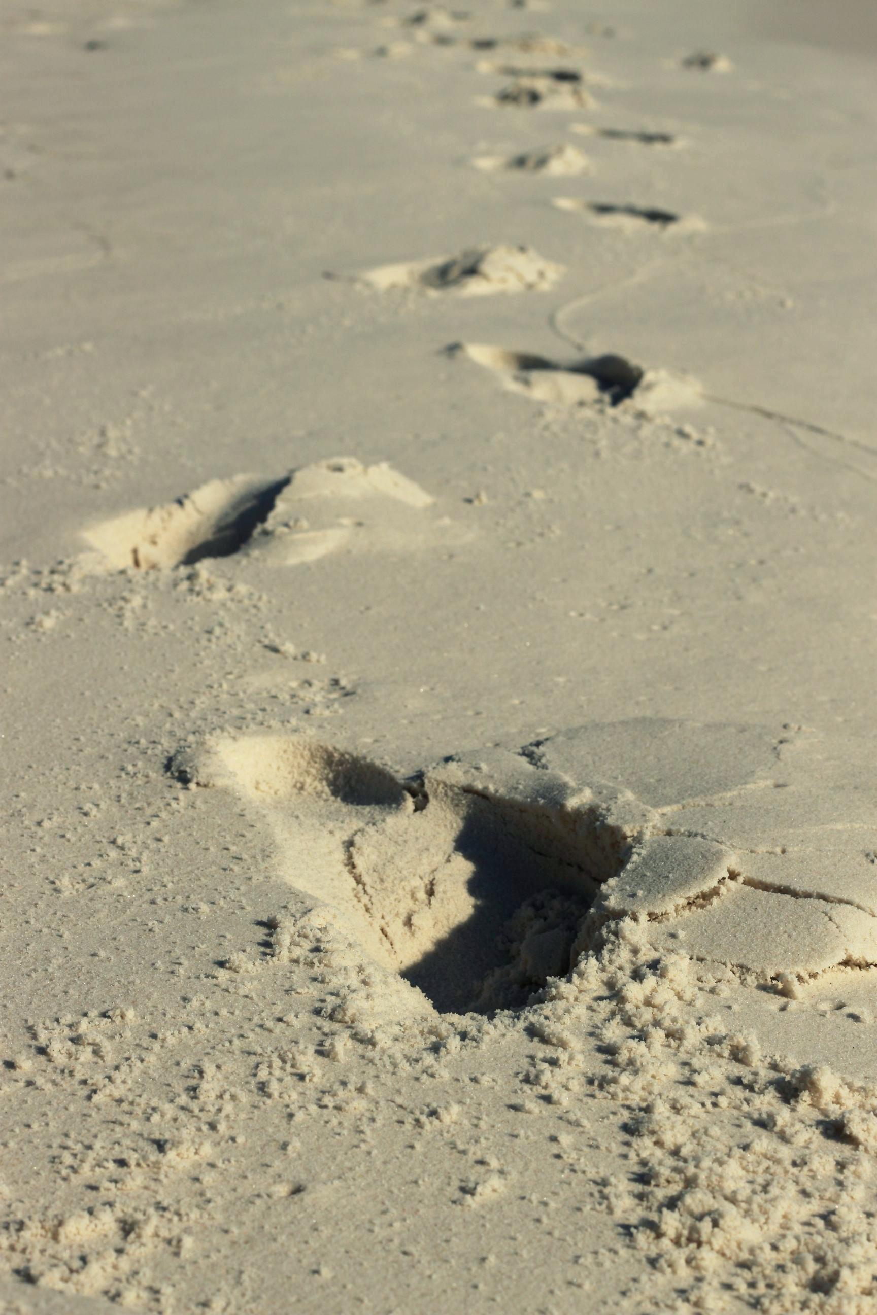 Fussabdrücke in Sand