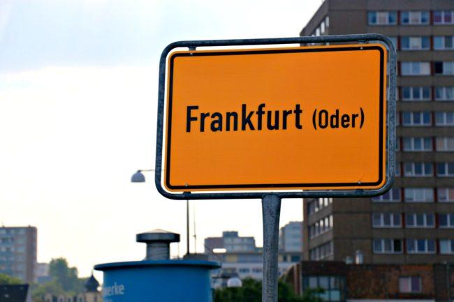 Ortseingangsschild Frankfurt Oder