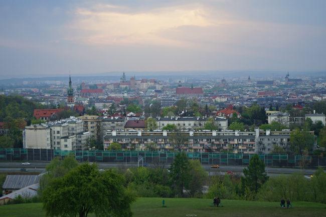 Blick auf Krakau vom Kopiec Krakusa