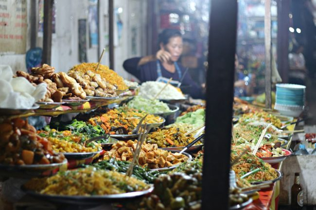night market food district