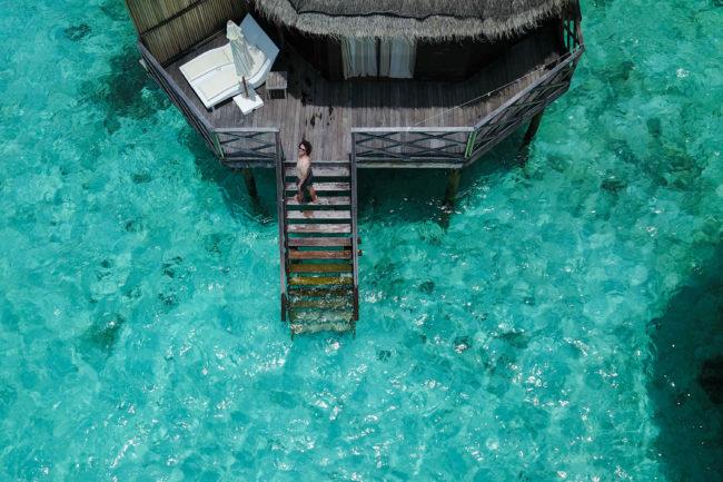 angaga water villa drohne