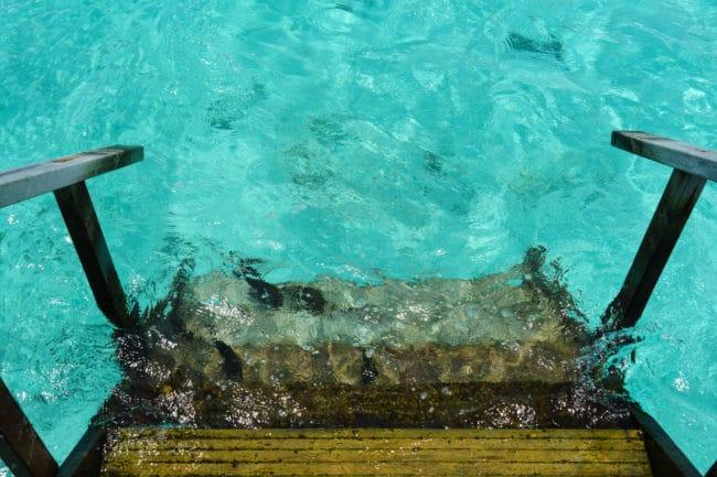 treppe water villa