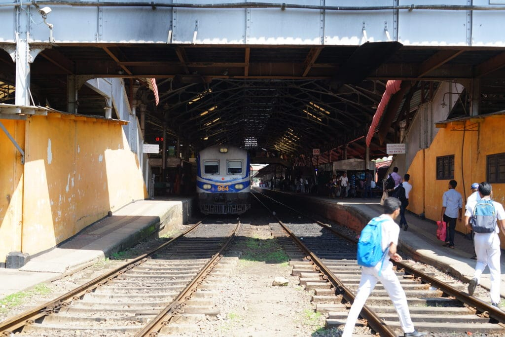 Blick in den Colombo Fort Bahnhof